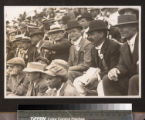 Henry E. Huntington at a baseball game with his son, Howard, September 14 1912.