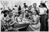 Mabel Hong and group at a picnic.