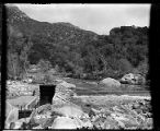 Dam and headgate at intake of Kaweah #2 hydro plant on the Kaweah River.