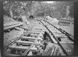 Tram tracks at Kaweah #3 Hydro Plant used to cart construction materials to the construction site.