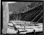 A construction crew working on the construction of Santa Ana River #1 Hydro Plant.