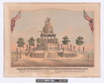 Design of bronze monument, commemorative of American Independence.