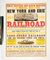 Great western and south western U.S. Mail Route. New York and Erie broad gauge railroad ... (New...