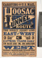 Carrying the U.S. mail Hoosac Tunnel route. The direct short line between the east and west ...