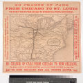 Illinois Central Railroad: New Orleans through line. : No change of cars from Chicago to New...