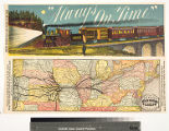 The old reliable Hannibal and St. Joseph Railroad the pioneer route to the west. ...