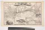 The short line across the continent. : Map of the great central route between the Atlantic and...