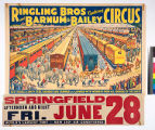 Ringling Bros and Barnum & Bailey Combined Circus : 100 double length steel railroad cars...