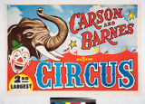 Carson and Barnes big 3 ring 2nd largest circus.