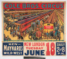 Cole Bros. Circus : two railroad trains of double length cars jammed with wonders from all parts...