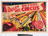 Dailey Bros. Big 3 Ring Circus : traveling on its own steel train of double length railroad cars.