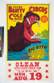 Clyde Beatty Cole Bros. Combined Circus : Big Otto blood sweating hippopotamus from the river Nile.