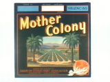 Mother Colony Brand.
