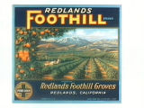 Redlands Foothill Brand.