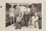 Aleson party at end of Grand Canyon traverse.  At Pierces Ferry.  Rear:  William Hopkins; Mildred...