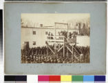 Hanging of Capt. Henry Wirz (C.S.A.) ; adjusting the rope.