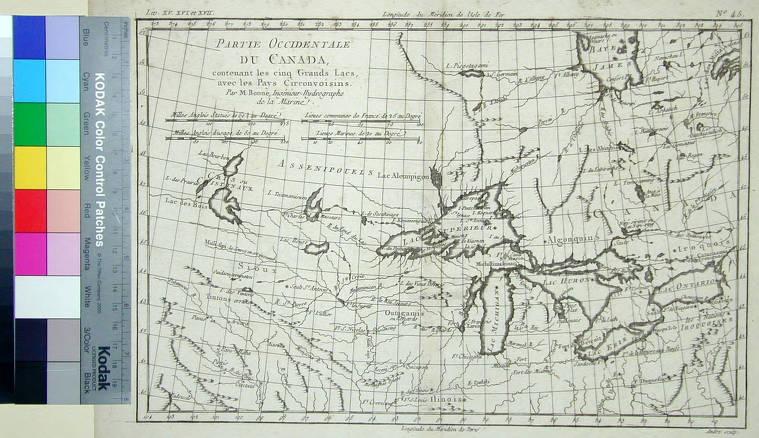 Lac Bourbon Map Canada Partie Occidentale du Canada, contenant les cinq Grand Lacs, avec