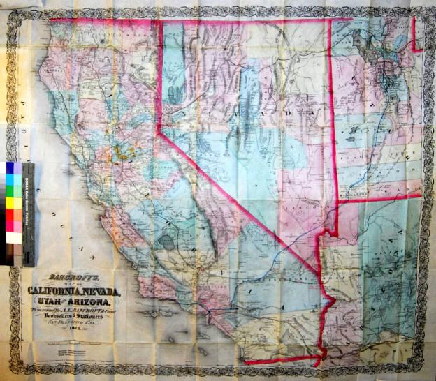 Bancroft\'s Map of California, Nevada, Utah and Arizona. - Maps ...
