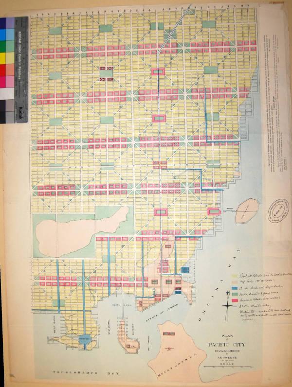 Pacific Mexico Map.Plan Of Pacific City Sinaloa Mexico By A K Owen C E 1889