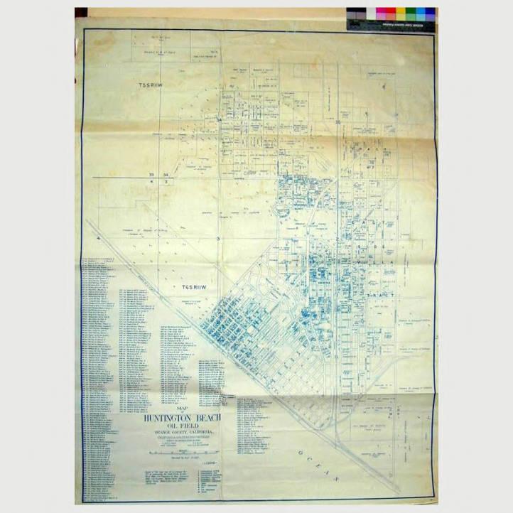Map of Huntington Beach Oil Field Orange County, California ... California Oil Fields Map on