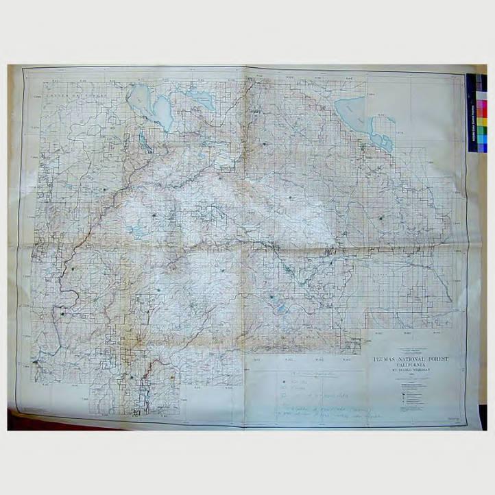 Plumas National Forest California Maps Huntington Digital Library