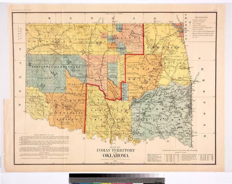 Jay Oklahoma Map.Map Of Indian Territory And Oklahoma 1890 Jay T Last